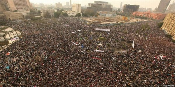 demonstracja na Placu Tahrir w Kairze